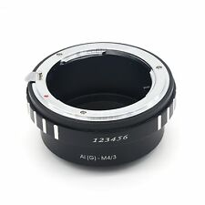 Nikon G AF-S F Lens to Micro 4/3 M4/3 Mount Adapter