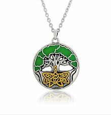 Tree of Life 3D Enamel Pendant Celtic Knot Necklace