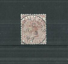 BAHAMAS 1884 £1 SUPERB USED