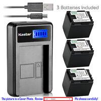 Kastar Battery LCD Charger for Canon BP-819 & Canon VIXIA HF S10, VIXIA HF S11