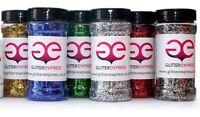 Glitterexpress 250g Shaker Pots 040hex Glitter PVC Arts & Crafts, Schools,