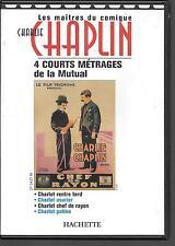 DVD ZONE 2--CHARLIE CHAPLIN--4 COURTS METRAGES DE LA MUTUAL