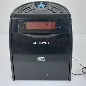 AUDIOVOX AM/FM Alarm Clock Radio CD Player no power Cord CD1120 Black