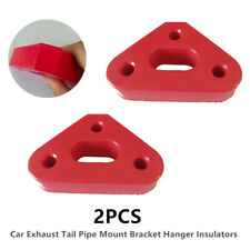 1Pair of 3-Hole Car Exhaust Tail Pipe Mount Bracket Hanger Insulators Red Rubber