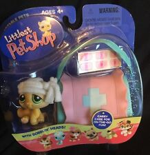 Hasbro Littlest Pet Shop Cat Bandage Hospital Portable Carrier Pink #94 Kitten