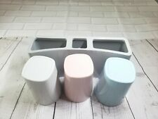 Toothbrush Holder Wall Mounted-Large Capacity-Easy Install=R4=