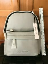 NWT Authentic Marc Jacobs Varsity Small Leather Backpack Bag Gray Grey $395