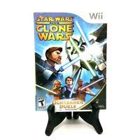 Star Wars The Clone Wars Lightsaber Duels Nintendo Wii Complete LucasArts