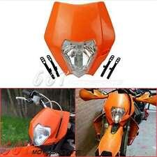 Orange Dirt bike Phare de moto carénage pour ENDURO croisé Dual Sport KTM