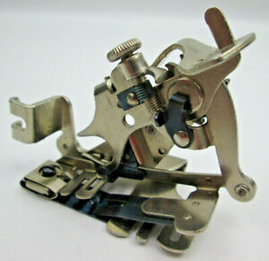Singer Adjustable Ruffler Foot 120598 Vintage Sewing Machine Attachment Loc b13