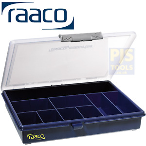 Raaco 136150 A5 9 fixed compartment assorter component case box