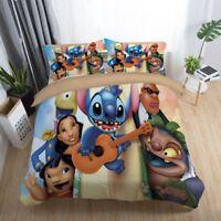 3D Disney Stitch Guitar Duvet Cover Kids Bedding Set Pillowcase Quilt Cover Set