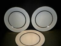 3 FARBERWARE 'IMPERIAL PLATINUM'  DINNER PLATES 10 3/4''