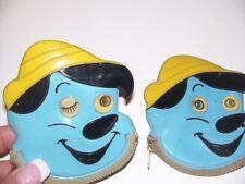 Two Vintage Walt Disney Prod Pinocchio Vinyl Coin Purse Winking Lenticular Eyes