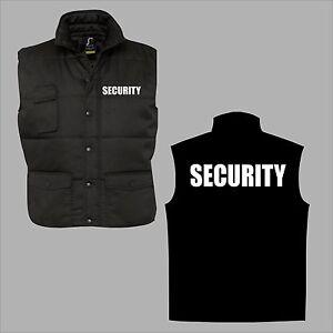 Security Weste Body Warmer Aufdruck weiß silber reflex Sicherheitsdienst S-6XL