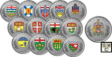 2018 '14-Coin Set of the Heraldic Emblems of Canada' Prf Fine Silver Coins(18547