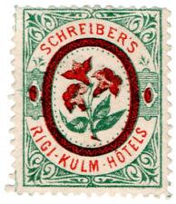 (I.B) Switzerland Hotel Stamp : Schreiber's Rigi-Kulm