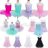 Girls Kids Tutu Ballet Leotard Dance Dress Princess Ballerina Dancewear Costume