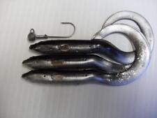 NEW BLACK SILVER 15CM SAVAGE GEAR REAL EEL LURE + JIGG PIKE PERCH ZANDER FISHING