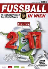 Fussball in Wien Herbst 2017 - Austria Vienna Region Season Preview Magazine