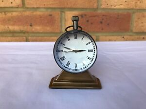 Antique Stand brass Table / Desk watch / London Clock Nautical Marine Time gift