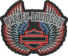 """HARLEY DAVIDSON Studded Rebel Spirit Winged B&S 5 13/16""""  INCH PATCH"""
