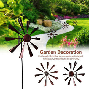 Durable Patio With Stake DIY Tool Backyard Metal Wind Spinner Garden Windmill