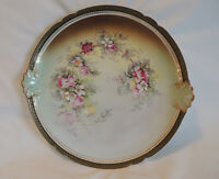 """Vtg GDA 12.5"""" Hand Painted Tray Limoges France Porcelain Serving Plate CH Field"""