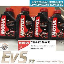 4 Litri Motul 7100 20W50 4T Olio Tagliando Motore Moto 100% Sintetico ESTERE