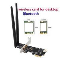 Bluetooth WiFi WLAN Card Wireless PCIe Network Desktop Adapter Card Dual Band