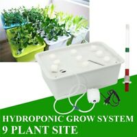 9 Holes 220V Plant Site Hydroponic System Indoor Garden Cabinet Box Grow Kit