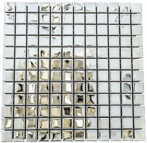 Mirrored Aluminium & Ceramic Mosaic Tiles 1 sheet 30 cm x 30 cm  11 sheets 1sqm