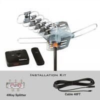 Five Star FSA-5809 Outdoor HDTV Antenna Digital UHF/VHF/FM,Motorized With Remote