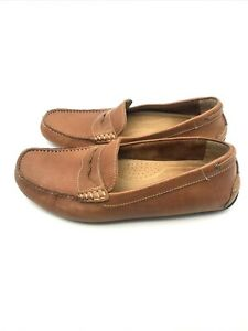 G. H. Bass & Co. Driving Moccasin Loafer Mens 11 M Brown Leather Shoes