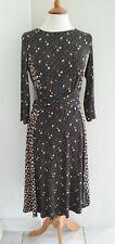BODEN - BEIGE FLORAL PRINT DRESS - SIZE: UK12R