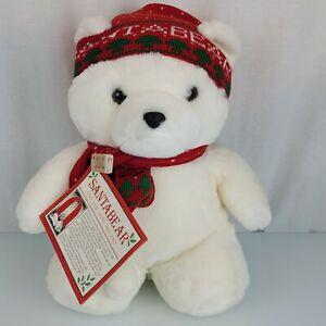 Vintage First 1985 Dayton Hudson Plush Santa Bear Holiday Xmas Chosun Hat Scarf