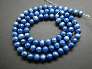 "Hermoso Azul Oscuro 8mm Sur Mar Concha Perla Piedra Preciosa Suelta granos 15/"" Strand"