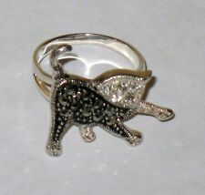 New Sterling Silver Ring, .925, Size 8, Sequenced Cat, Kitten
