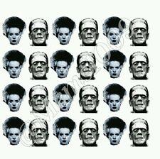 Frankenstein and Bride of Frankenstein WATER DECALS Nail art Free shipping!