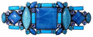 KONPLOTT / Haarspange Art Deco blau 5450543460246