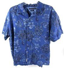 Tommy Hilfiger Button Shirt XL S/S Floral Camp Blue Indigo
