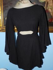 Free People Black Dreamin About this Mini Dress-S/P-$98 MSRP