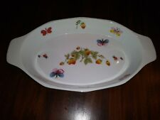 Ardalt Oven to Table Cookware Lenwile Butterflies Strawberries #7122 Vintage