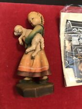 "Anri Ferrandiz 6"" Shepherdess Tender Love Wood Carved Figurine Le 605/2250"