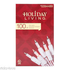 Holiday Living CLEAR Mini Christmas Lights 100ct White Wire Birthday St. Patrick