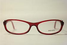 Vintage Prada VPR 10M 2BM 101 51[]18 135 Rot oval Brillengestell Brille NOS