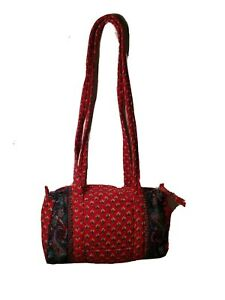 LARENDA CALIFORNIA Quilted Purse Bag Red multicolored Nice Womens EUC Fast Ship