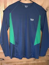 Mens Mountain Hardwear Long Sleeve Crewneck Size Large Blue/Green