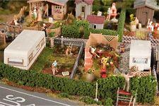 Faller 180495 HO 1/87 2 Jardins d'ouvrier avec caravane