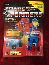 Vintage 1985 Transformers G1 Autobot Gears Motorized Transformer Robot Minicar